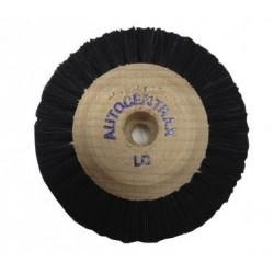 Brosses 60/3 rgs convergentes centre bois autocentrax soie noire extra rude