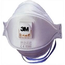 Masques Respiratoires à valve 3M FFP2 ref 9322 (x10)