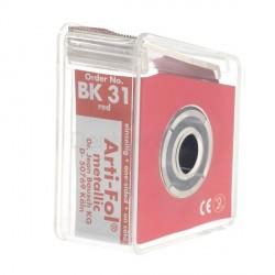 Feuilles ARTI-FOL 12µ 1 face BK31 rouge