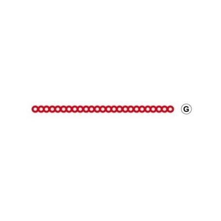 Cire de retention à trous ronds rouge Yeti
