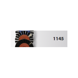 Brosses HATHO Soie Noire 50/1 Rg centre plastique réf 1145 (X12)