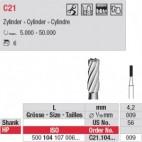 Fraises carbure cylindriques C21