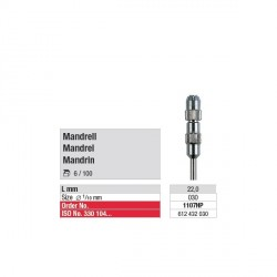 Mandrin 3 mm pour Occlupol et brosse en acier (x6)