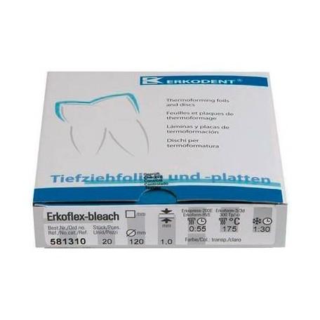 Erkoflex-bleach, 1,mm, Ø 120mm, transp. (x20)