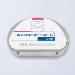 Disques zircone Ceramill Zolid FX White 71