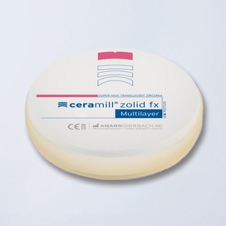 Disque zircone Ceramill Zolid FX Multilayer rond