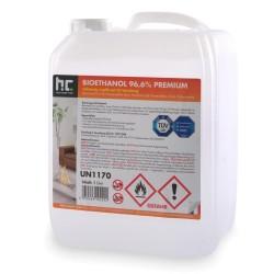 Bioéthanol 96,6pourcent dénaturé - Bidon 5 Litres